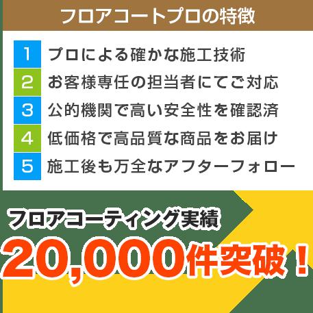 フロアコーティング実績15,000件突破!